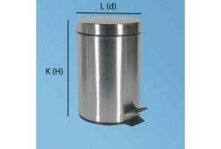 Pedalhink 5L matt stål