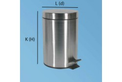 Pedalhink 20L matt stål