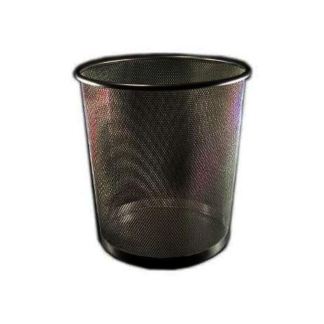 Papperskorg metall 14 L, svart