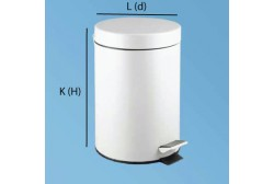 Pedalhink 5L stål vit