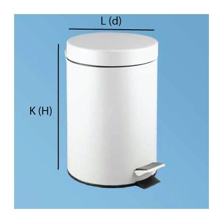 Pedalhink 12L stål vit