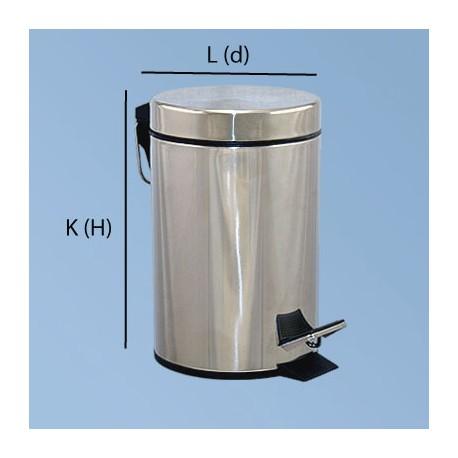 Pedalhink 5L polerat stål