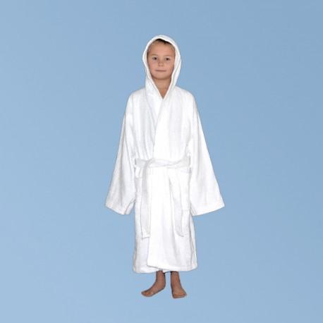 Frotté morgonrock med huva S, för barn