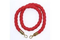 Avspärrningsrep flätad röd 1.5 m, gyllene