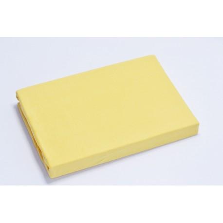 Voodilina kummiga 90*200 cm, trikotaaž, kollane