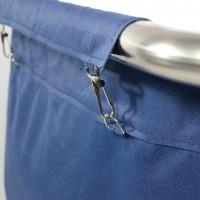 Musta pesu käru, sinine kott