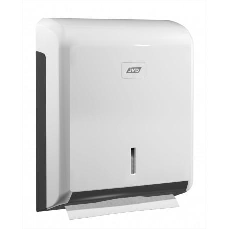 Kätepaberi dosaator ABS plastik (zik-zak), valge