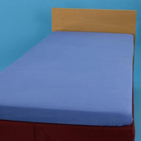 Voodilina kummiga 90*200 cm, trikotaaž, sinine