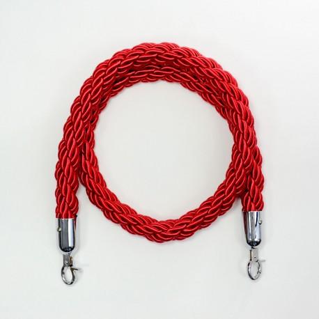 Piirdeköis põim. punane 1,5m (hõbe konks)
