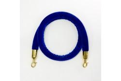 Piirdeköis veluur sinine 1,5m (kuldne konks)