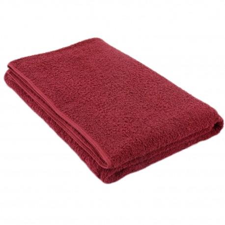 Burgundy red terry towel 75*150 cm