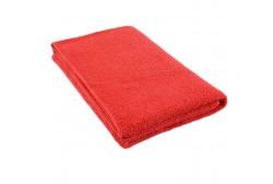 Röd frottéhandduk 75*150 cm