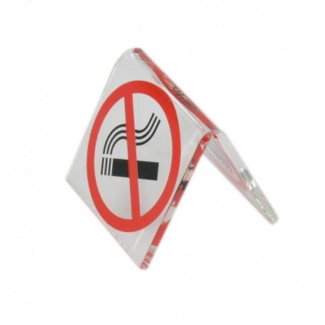 No-smoking table sign