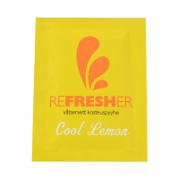 Refresher tissue in sachet