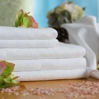 Våffla handduk 50*70 cm vit