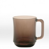 Dricks mörkbrun kopp 31 cl, härdat glas