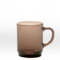 Dricks mörkbrun kopp 26 cl, härdat glas