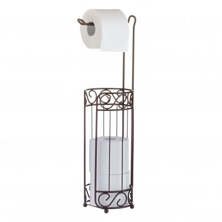 Toalettrullehållare, med korg