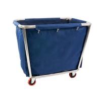 Tvättvagn, blå väska