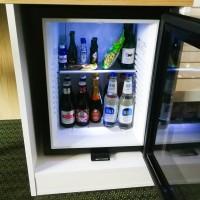 Minibar glasdörr 40 L, svart
