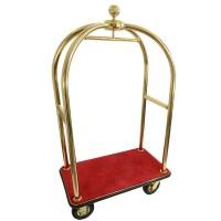 Bagagevagn, guld, röd matta