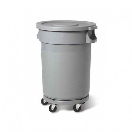 Plastbehållare 80L, grå