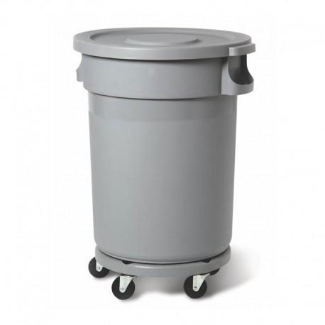 Plastbehållare 120L, grå