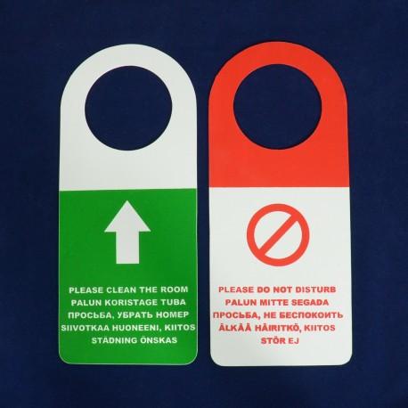 Dörrskylt - Skicka inte stör, plast
