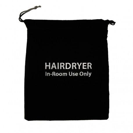 Påsen för hårtork, svart
