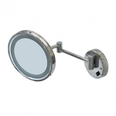 Rund spegel med LED ljus