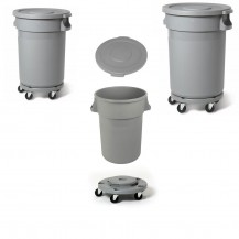 Avfallsbehållare i plast