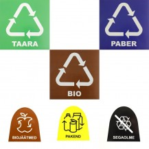 Avfallsbehållare etiketter